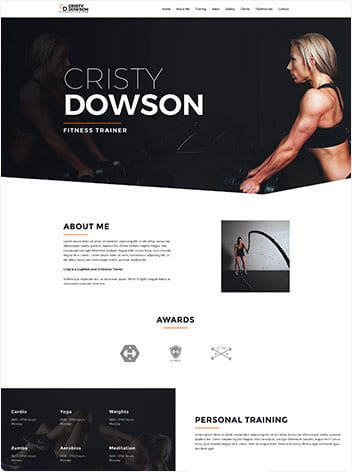 Our work fitness trainer website