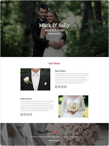 Our work wedding website
