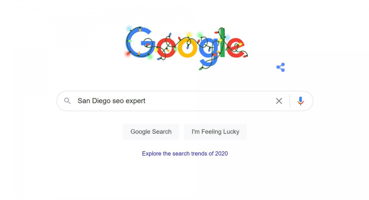 image of google search results for San Diego SEO Expert